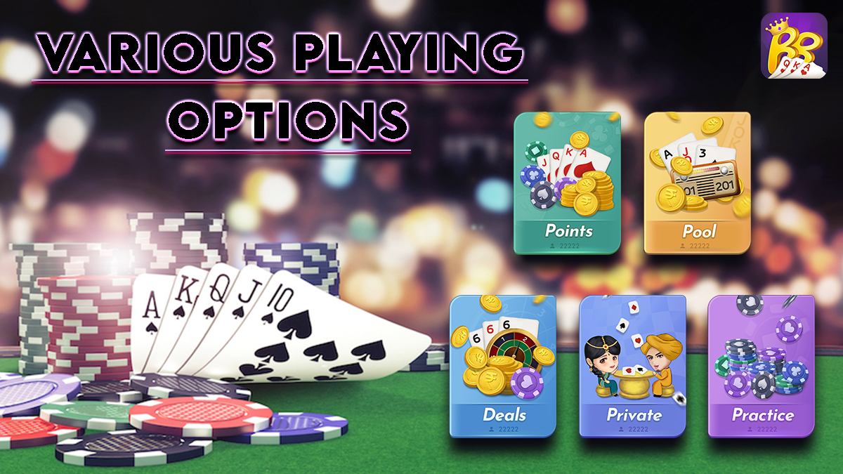 Various Rummy Game Options - RozRummy